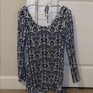 Long sleeve flowy dress